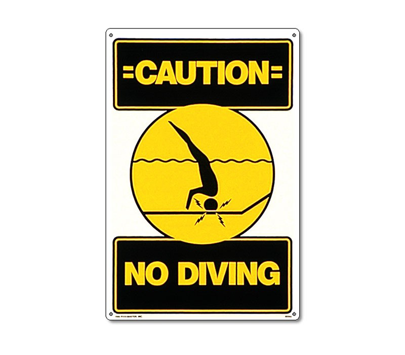 Sign: Caution No Diving