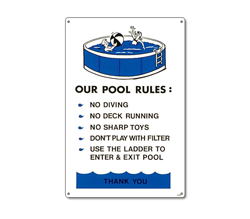 Sign: Above Ground Pool Regulations