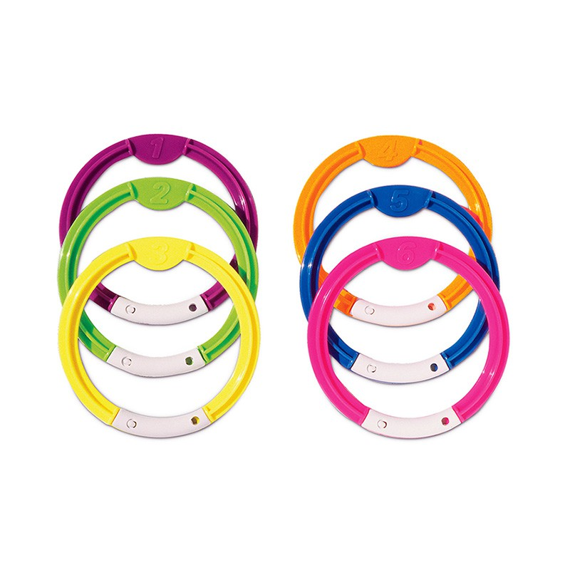 Dive Rings - Set of 6 pool diving rings