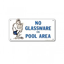 Sign: No Glassware in Pool Area