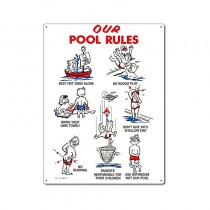 Sign: Our Pool Rules Animation w/ Kids
