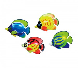 Set of 6 pool diving discs - Fish