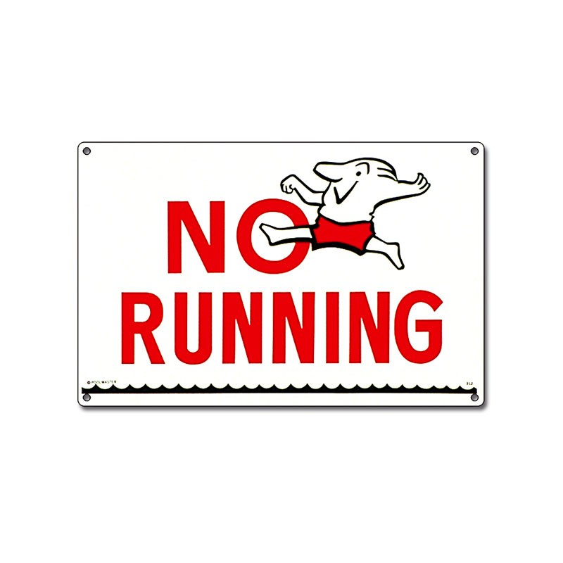 Sign: No Running Pool Sign