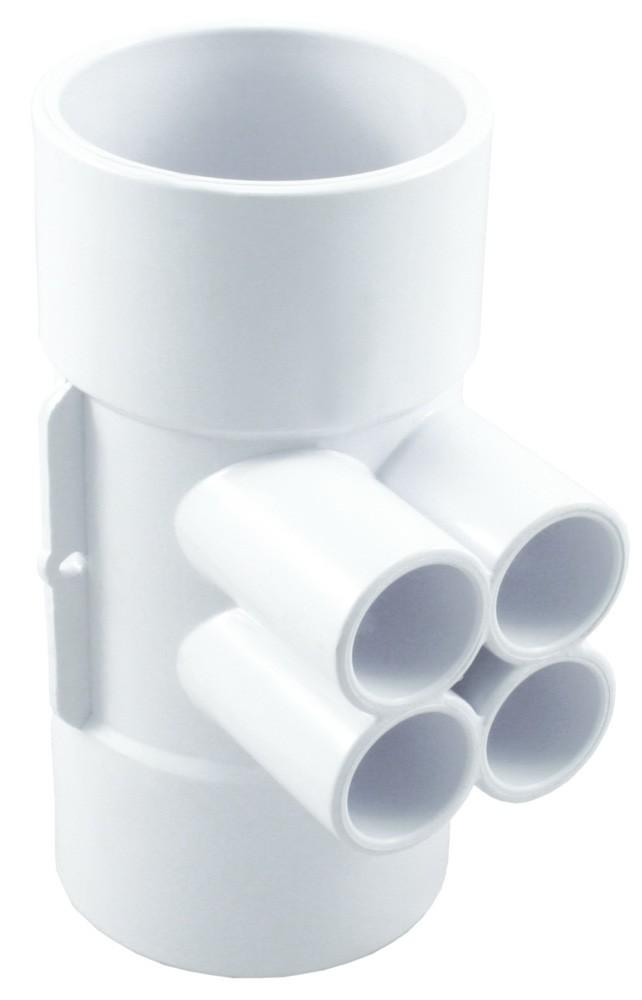 "Manifolds 4 Port QCA Spa Water Manifold 3/4"" Barb"